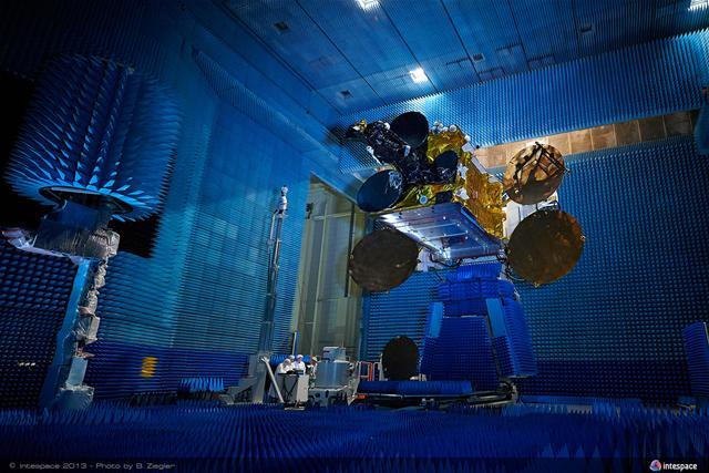 SYMETRIE SIRIUS Hexapod for satellites antennas testing