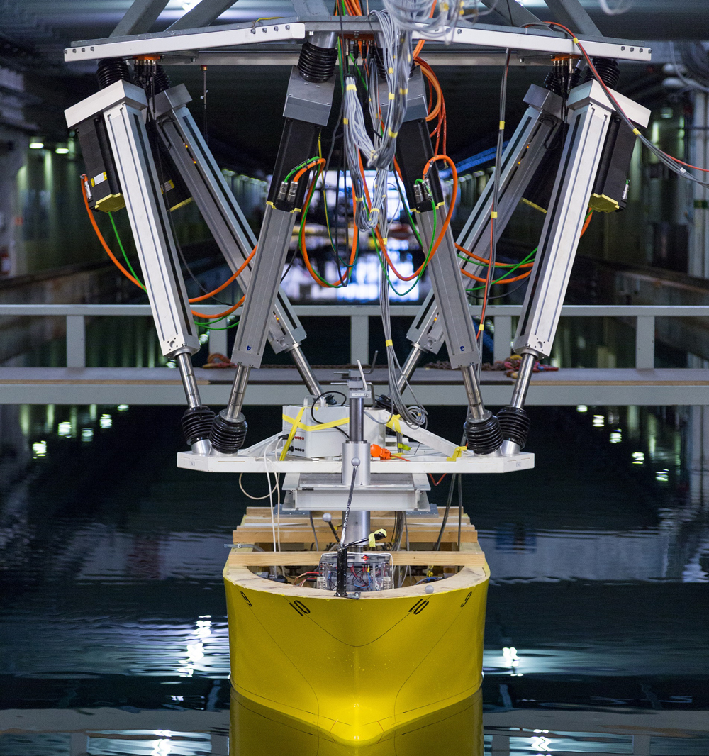 SYMETRIE MISTRAL hexapod for wave basin at SINTEF Ocean (Norway)