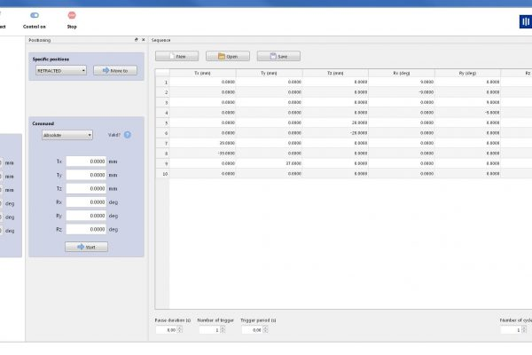 SYM_Positioning Software - Sequence
